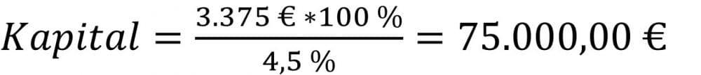 Kapital berechnen Beispiel Zinsrechnung