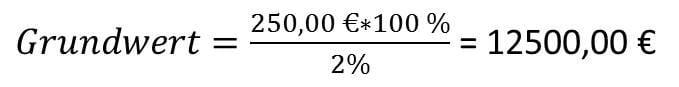 Prozentrechnen Grundwert berechnen Beispiel 3