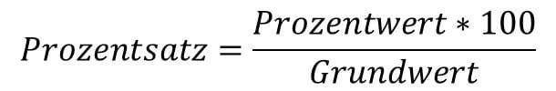 Prozentsatz Formel: Die Formel zur Berechnung des Prozentsatzes in der Prozentrechnung