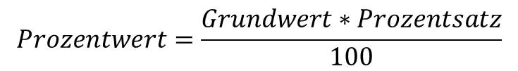 Prozentwert Formel: Formel zur Berechnung des Prozentwertes in der Prozentrechnung