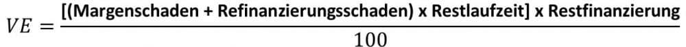 Vorfälligkeitsentschädigung berechnen Formel