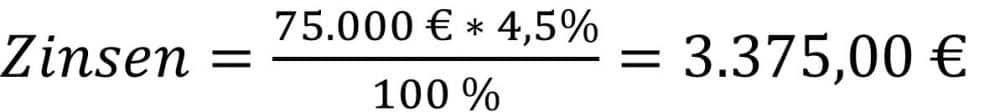 Zinsen berechnen Beispiel