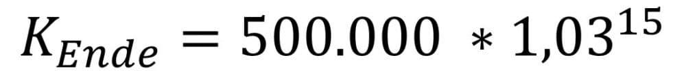 Zinseszinsen berechnen am Beispiel