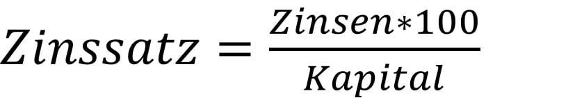 Zinssatz berechnen Formel der Zinsrechnung